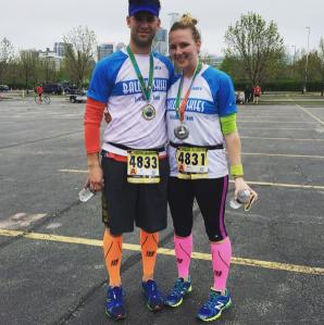 Katie and Joe run Cinco de Miler