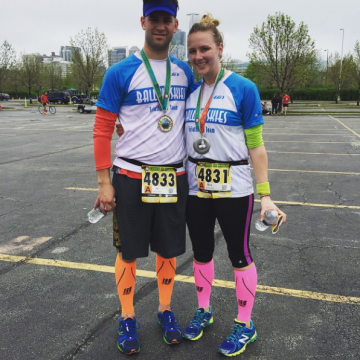 Katie and Joe run Cinco de Miler