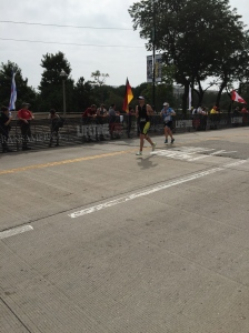 Chicago Triathlon Finish line