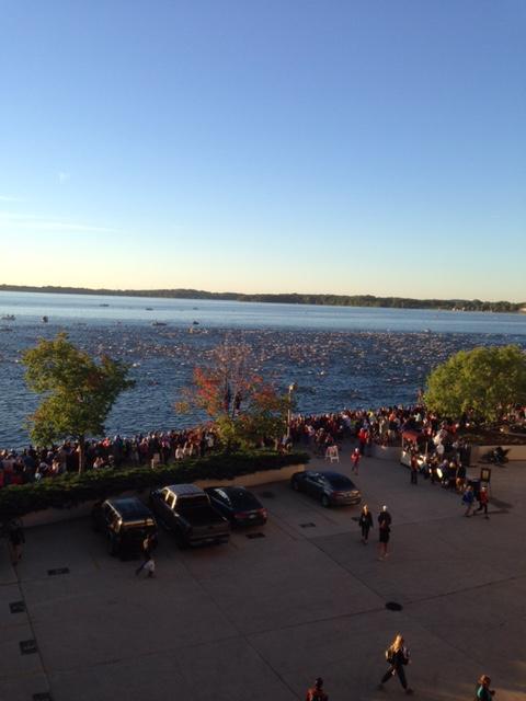 Ironman Wisconsin Mass Swim Start